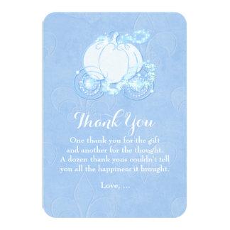 Cinderella Carriage Blue Fairytale Thank You Card