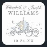 "Cinderella Carriage   Fairytale Wedding Square Sticker<br><div class=""desc"">Cinderella Carriage   Fairytale Wedding</div>"
