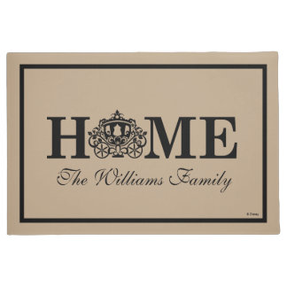 Cinderella Carriage | Home with Family Name Doormat