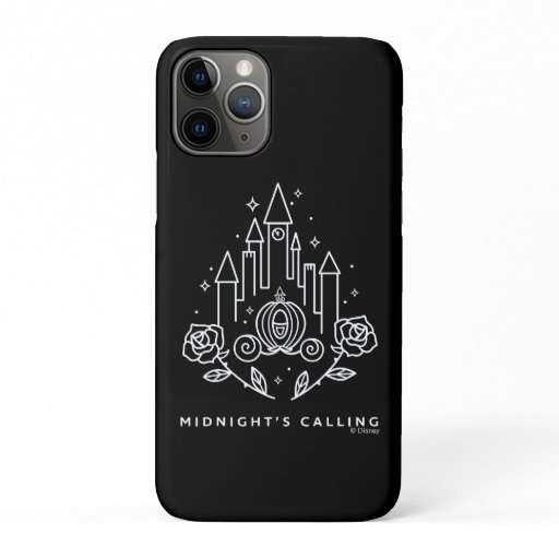 """Cinderella Carriage Outline """"Midnight's Calling"""" iPhone 11 Pro Case"""