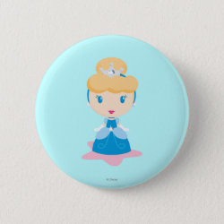 Kawaii Cinderella Round Button