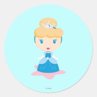 Cinderella Cartoon Classic Round Sticker