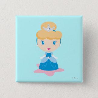 Cinderella Cartoon Pinback Button