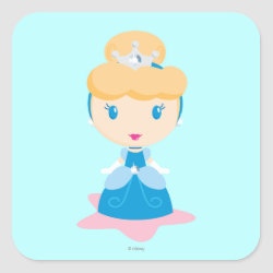 Square Sticker with Kawaii Cinderella design