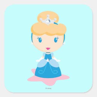Cinderella Cartoon Square Sticker