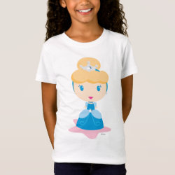 Girls' Fine Jersey T-Shirt with Kawaii Cinderella design