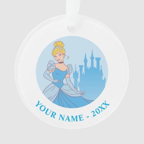 Cinderella & Castle Graphic Ornament
