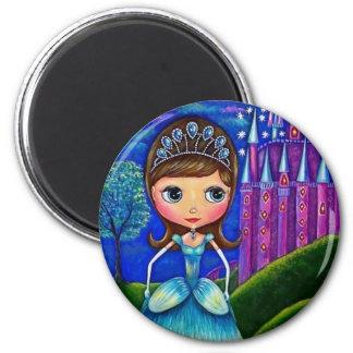 Cinderella Doll 2 Inch Round Magnet
