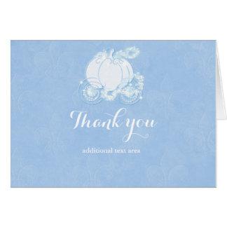Cinderella Elegant Blue Fairytale Carriage Card