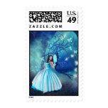 Cinderella Fairy Postage Stamps