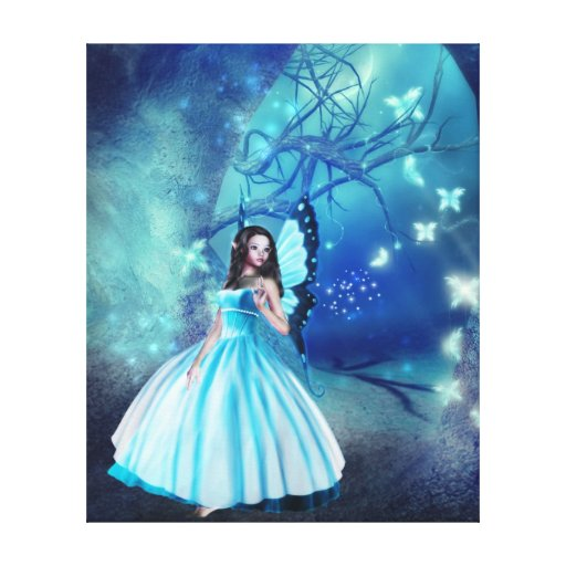 Cinderella Fairy Stretched Canvas Prints