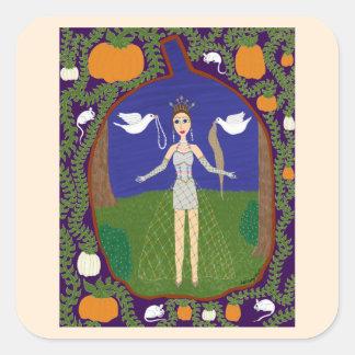Cinderella Fairy Tale Fashion 2 Square Sticker