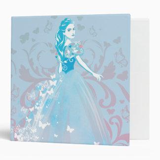 Cinderella Fanciful Butterfly Flourish Vinyl Binders