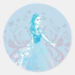 Cinderella Fanciful Butterfly Flourish Classic Round Sticker