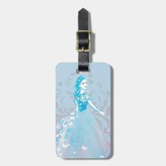 Cinderella Fanciful Butterfly Flourish Luggage Tag