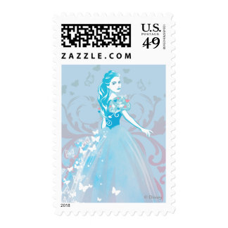 Cinderella Fanciful Butterfly Flourish Postage Stamp