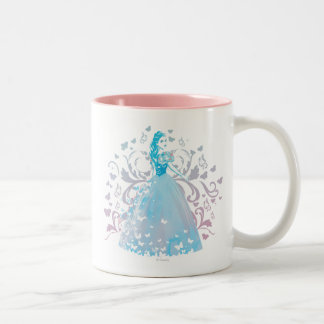 Cinderella Fanciful Butterfly Flourish Two-Tone Coffee Mug