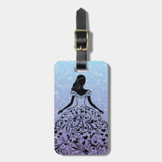 Cinderella Fanciful Dress Silhouette Bag Tag
