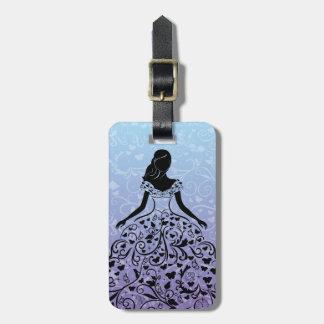 Cinderella Fanciful Dress Silhouette Bag Tag