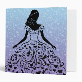 Cinderella Fanciful Dress Silhouette 3 Ring Binders