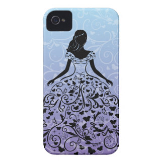 Cinderella Fanciful Dress Silhouette iPhone 4 Covers