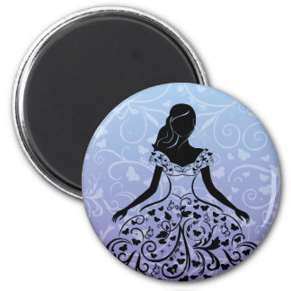 Cinderella Fanciful Dress Silhouette Magnet