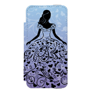 Cinderella Fanciful Dress Silhouette Incipio Watson™ iPhone 5 Wallet Case