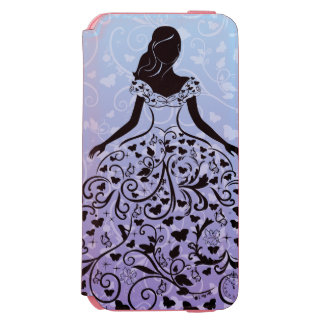Cinderella Fanciful Dress Silhouette Incipio Watson™ iPhone 6 Wallet Case