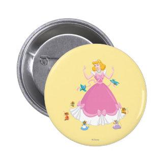 Cinderella & Friends 2 Inch Round Button