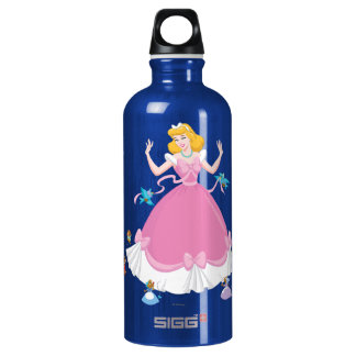 Cinderella & Friends Aluminum Water Bottle