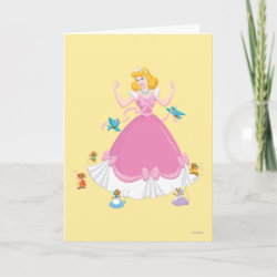 Standard Card with Pink Cinderella with Friends design