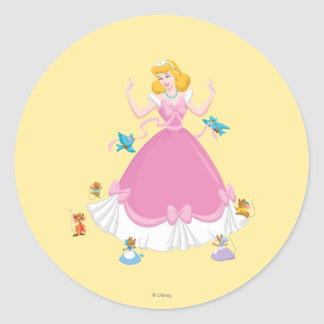 Cinderella & Friends Classic Round Sticker