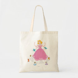 Budget Tote with Pink Cinderella with Friends design
