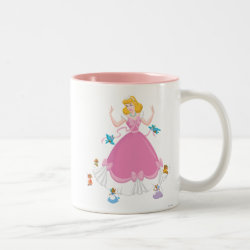 Two-Tone Mug with Pink Cinderella with Friends design