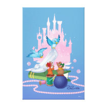 Cinderella | Glass Slipper And Mice Canvas Print