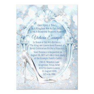 Cinderella Glass Slipper Any Number Birthday Party Invitation