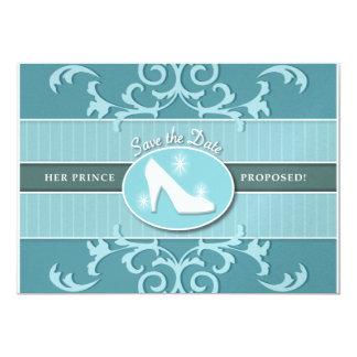 Cinderella Glass Slipper Save the Date Card