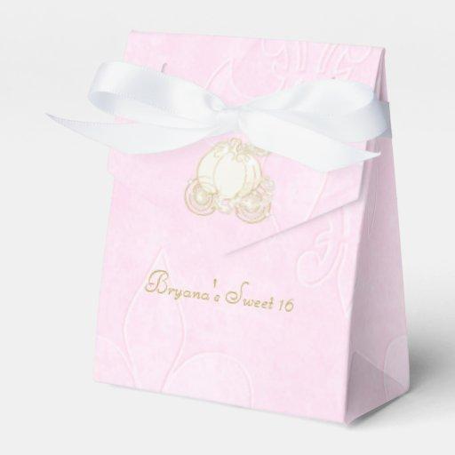Cinderella Carriage Favor Boxes : Cinderella gold carriage pink party favor boxes zazzle