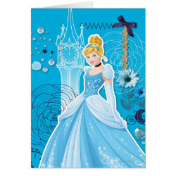 Greeting Card with Mixed Media Cinderella design