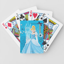 Playing Cards with Mixed Media Cinderella design