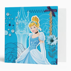 Avery Signature 1' Binder with Mixed Media Cinderella design