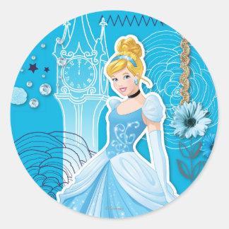 Cinderella - Graceful Classic Round Sticker