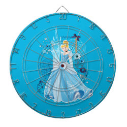 Megal Cage Dart Board with Mixed Media Cinderella design