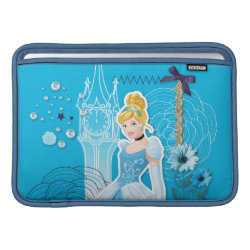 Macbook Air Sleeve with Mixed Media Cinderella design