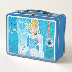 Metal Lunch Box with Mixed Media Cinderella design