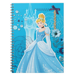 Photo Notebook (6.5' x 8.75', 80 Pages B&W) with Mixed Media Cinderella design