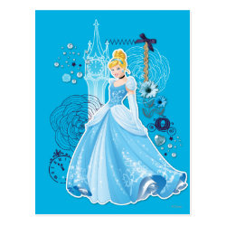Postcard with Mixed Media Cinderella design