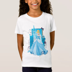 Girls' Fine Jersey T-Shirt with Mixed Media Cinderella design