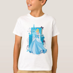 Kids' Hanes TAGLESS® T-Shirt with Mixed Media Cinderella design
