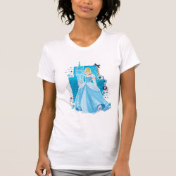 Women's American Apparel Fine Jersey Short Sleeve T-Shirt with Mixed Media Cinderella design